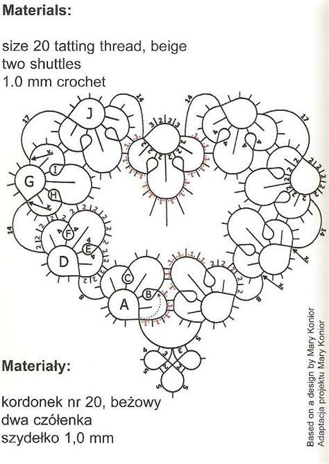 tatting diagrams tatted diagram nupereller tatting