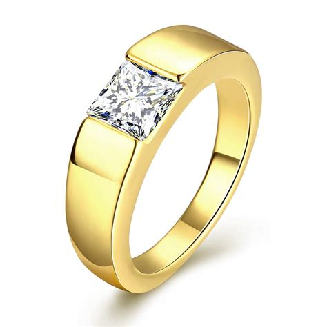 50 gold plated ring cubic zirconia wedding