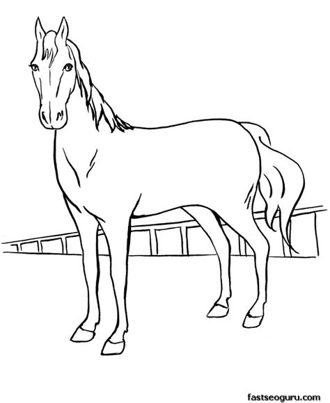 horse coloring page print out print out coloring pages race horses for kids printable