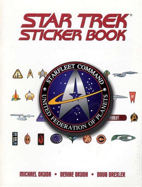 star trek sticker book sc  comic books