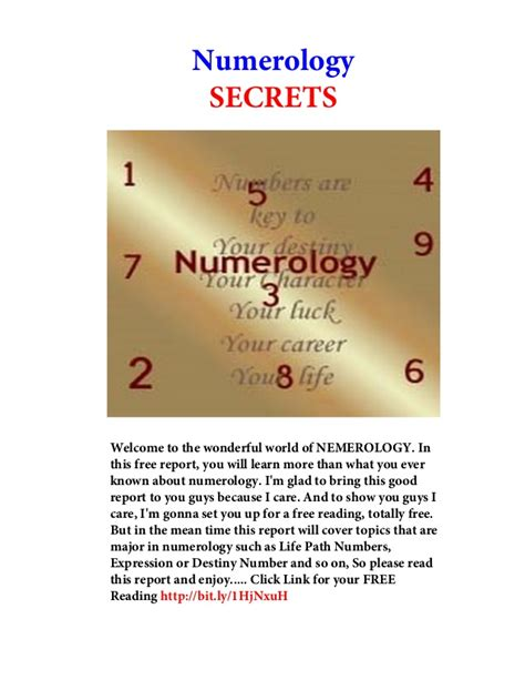 Learning The Secrets Of Reports by Numerology Secrets