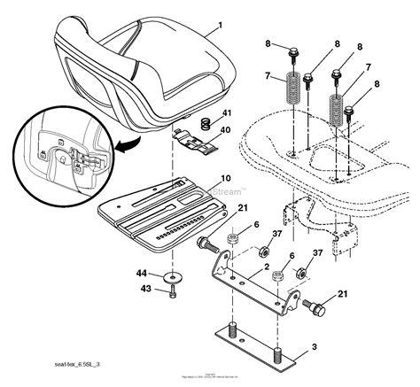 husqvarna ythv    parts diagram  seat