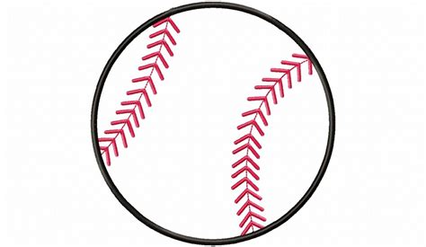 Applique Baseball Or Softball Machine Embroidery Design Baseball Designs