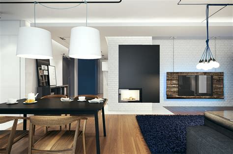 Tv Hung From Ceiling by Small Modern Home Visualization