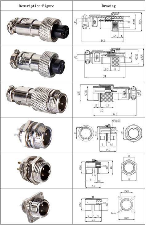 Log On Metal 1a Ring Adaptor 1a Free Kabel Micro Kualitas Terbaik Gx16 Aviation Connector Din Gx16 Connector Mic