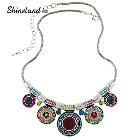 8 And Colorful Necklaces by 2018 New Choker Necklace Fashion Ethnic Collares Vintage