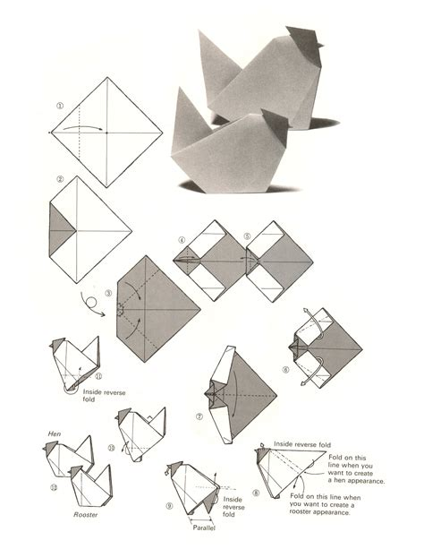 Origami Chicken - 1000 images about origami on zoos activities