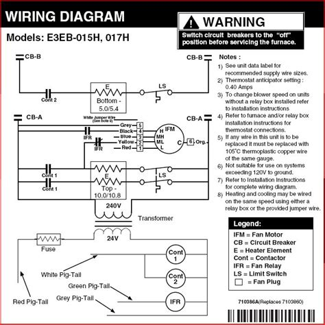 nordyne electric heat wiring diagram get free image