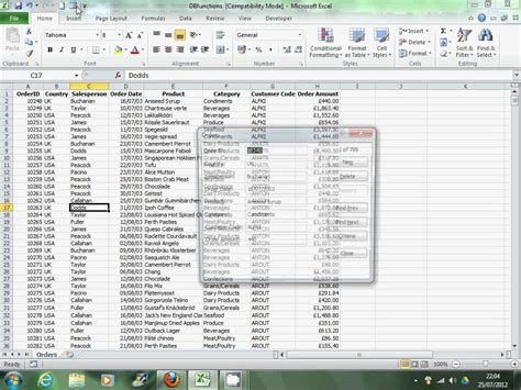 excel 2010 data entry form youtube