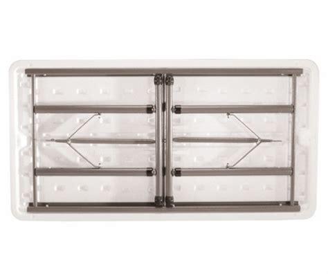 5 ft adjustable height folding table lifetime adjustable height folding table 80161 4 ft almond