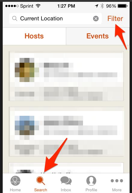 How Do I Search For On Mobile How Do I Search For Hosts Friends And Events On The Mobile App Couchsurfing Faqs