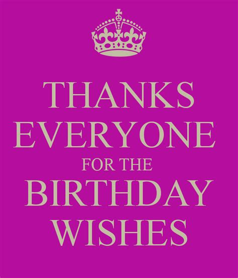 Thank You For The Happy Birthday Wishes Thanks For Birthday Wishes Comments Thanks Everyone For