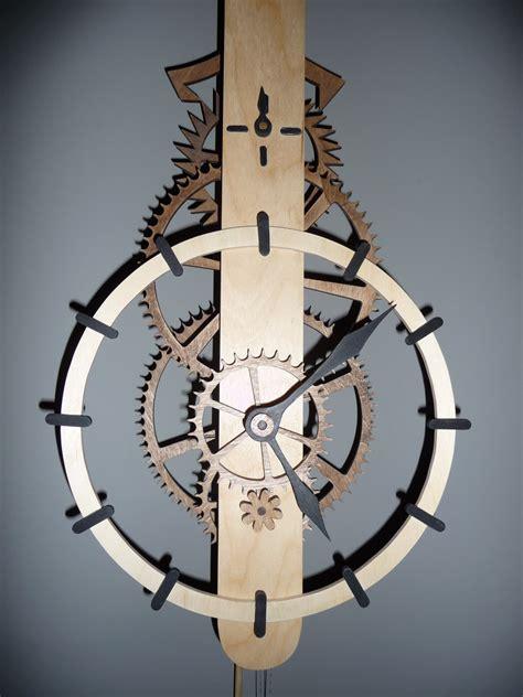 wooden gear clock plans  patterns dxf plans