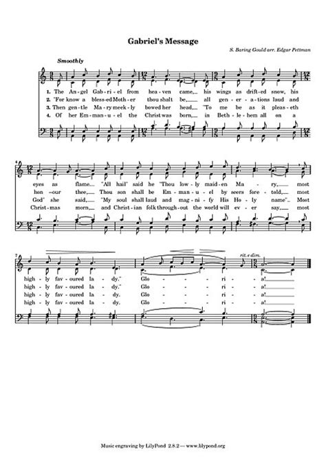 Gabriel's Message SATB - Partitions - Cantorion