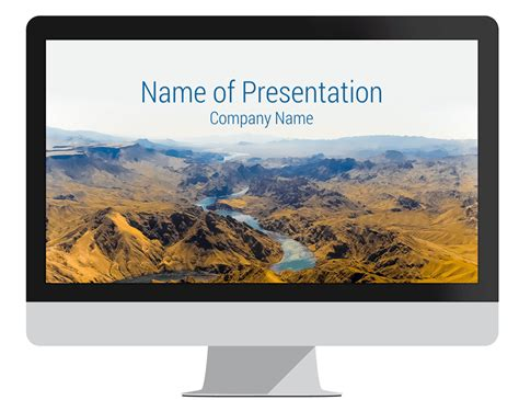 landscape powerpoint template mountain landscape powerpoint template presentationdeck