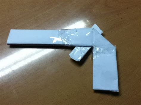 Paper Gun Origami - 2 simple ways to make a paper gun that shoots wikihow