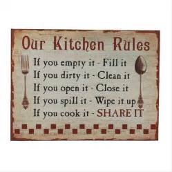 kitchen signs for work vintage kitchen sign by