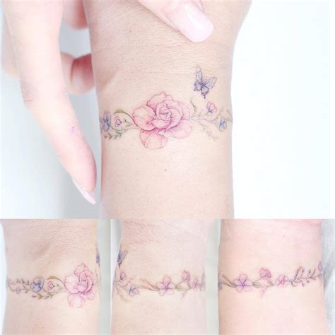 flower bracelet tattoo designs arm band tattoos the world s best arm band