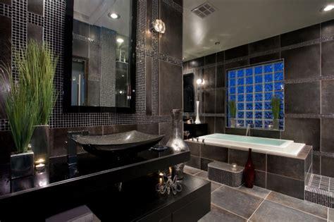 experiencing elegant peace  black marble bathroom decohoms