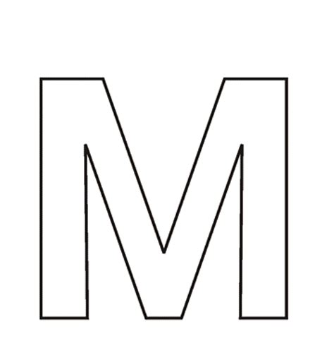 Galerry coloring letters m