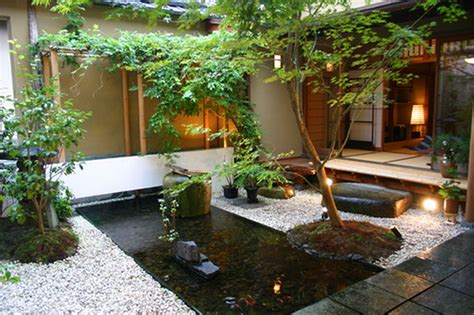 decoration landscape small garden ideas with koi fish