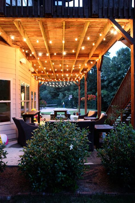 Outdoor Lighting For Patio This Would Look Great On Our Patio Porch Pinterest Patio Outdoor Patios And Lights