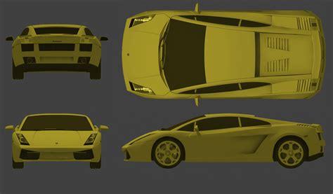 Lamborghini Gallardo Blueprints Tutorials3d Blueprints Lamborghini Gallardo