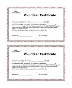 volunteer certificate template 7 free word pdf