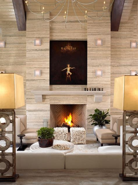 Living Room Without Fireplace Fireplace Without Mantle Family Room Transitional With