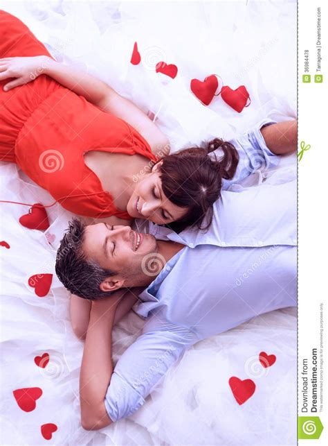 lovers in bed rose love royalty free stock photos image 36984478