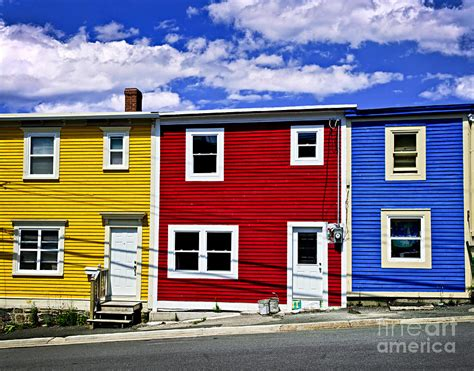 colorful houses colorful houses in st s newfoundland photograph by