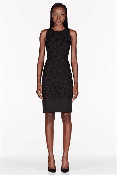 Flat Shoes Wanita Synt Motif 286 burberry prorsum black gabardine embroidered flower motif shell dress