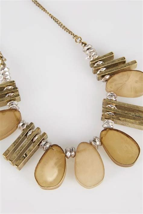 New Look Gift Card Ireland - gold statement acrylic necklace