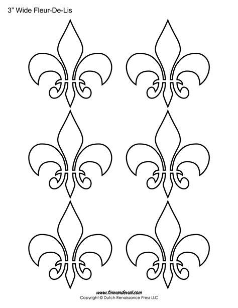 fleur de lis template fleur de lis templates printable fleur de lis shapes