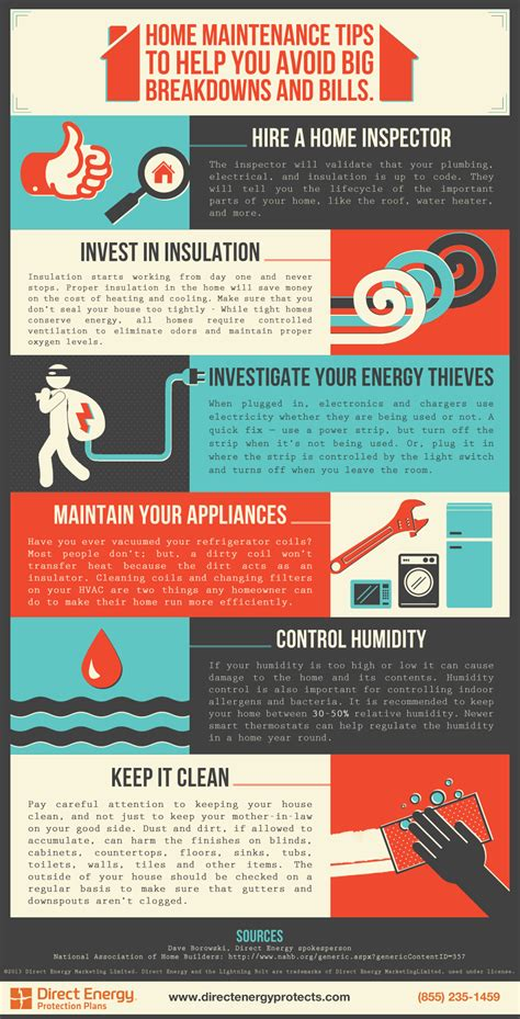 Direct Energy Plumbing Protection Plan by Home Maintenance Tips Infographic Direct Energy