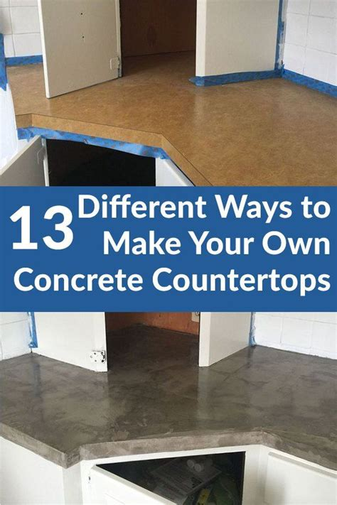 Make Your Own Countertop by 17 Best Ideas About Concrete Kitchen Countertops On