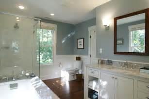 bathroom in a shade of gray blue decoist