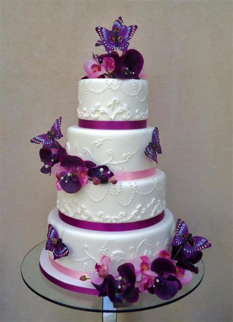 purple theme wedding cake by veritys creative cakes facebookcomverityscreativecakes