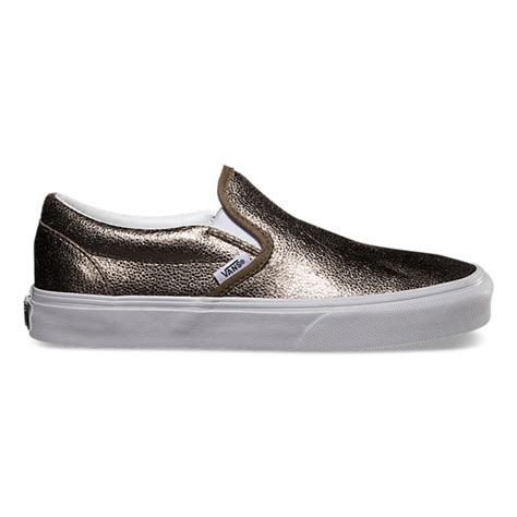 metallic slip on shop womens shoes at vans