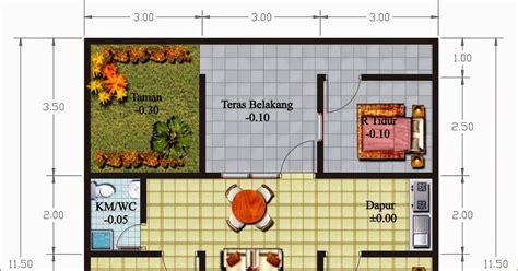 desain rumah tanah bentuk  gambar