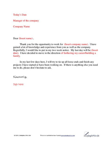 simple letter of resignation template basic letter of resignation sle hashdoc