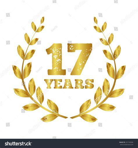 17 in years seventeen years 17 icon seventeen years stock vector 331745996