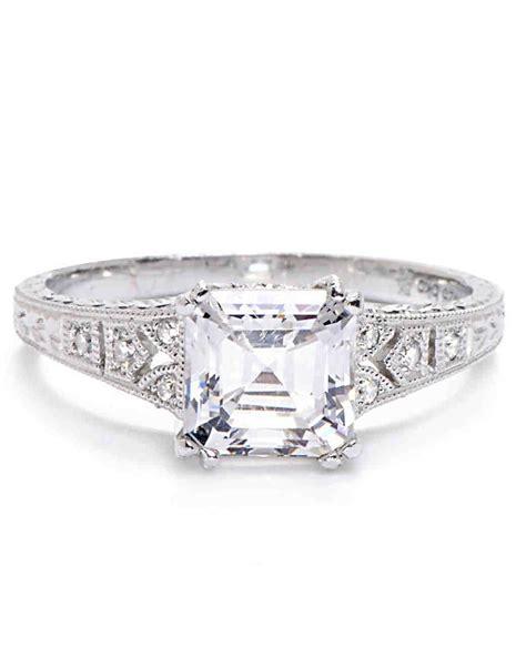 asscher cut engagement rings martha stewart weddings