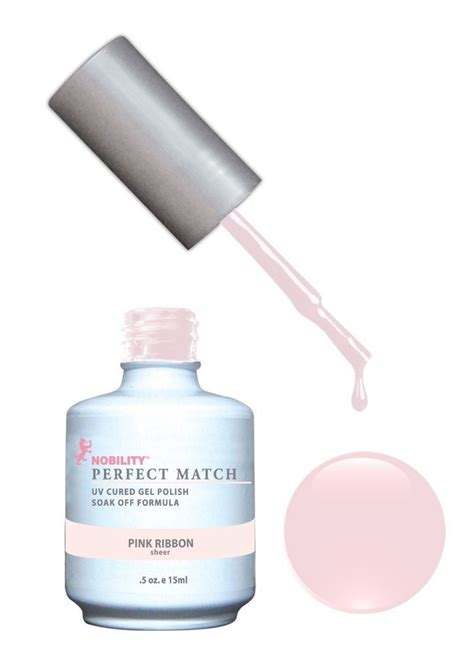 perfect match colors lechat perfect match gel color polish pink ribbon pms08