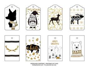 how do i get new tags for my car woodland printable gift tags black and gold