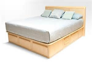 Custom Platform Bed With Storage Custom Platform Storage Bed With Headboard Nightstands