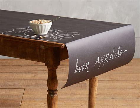 chalkboard paper table runner the green