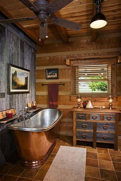 23 log cabin decor ideas build it cabin bathrooms
