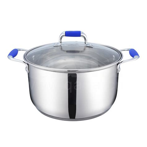 large induction pot induction compatible cookware set stainless steel stock pot with cover buy cookware stock pot