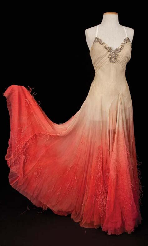 Mst Dress Angeline White miller white chiffon gown with feathers from